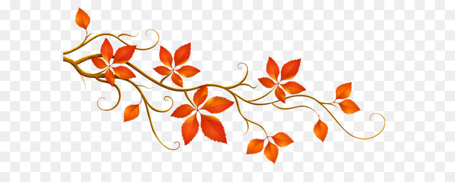 Autumn leaf color branch. Decorative clipart