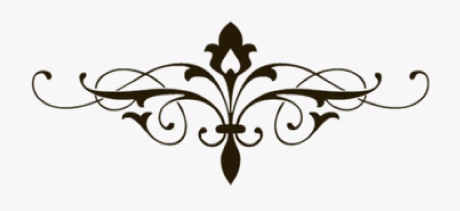 Decorative free clip art. Line clipart fancy