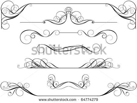 Scroll clipart calligraphy. Designs best images of