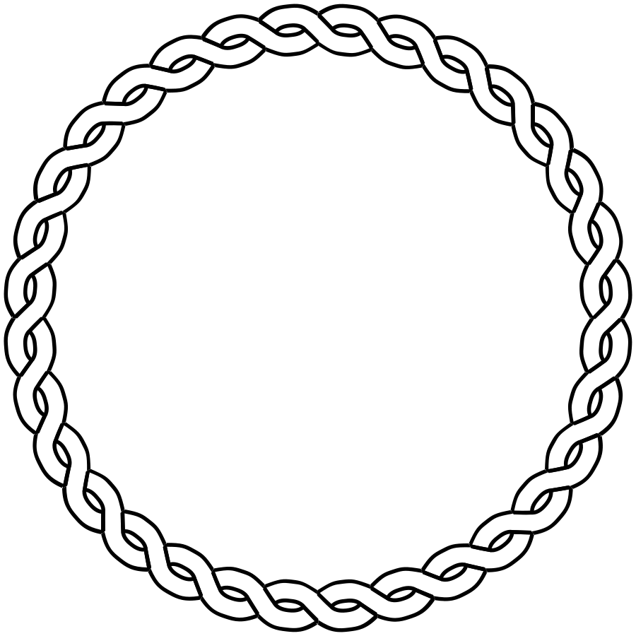 collection of circle. Hearts clipart rope