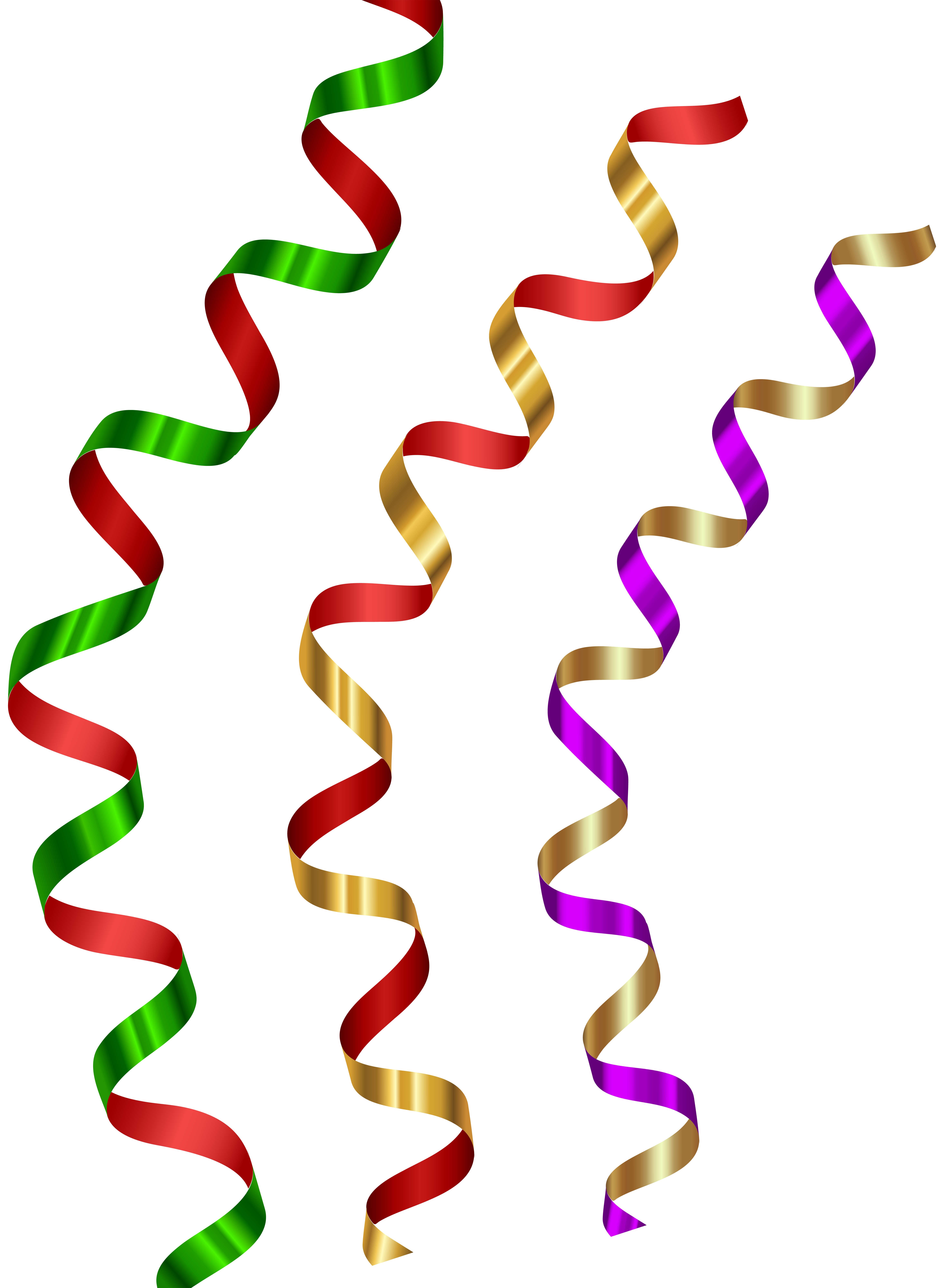 Ribbons transparent clip art. Decorative clipart curly