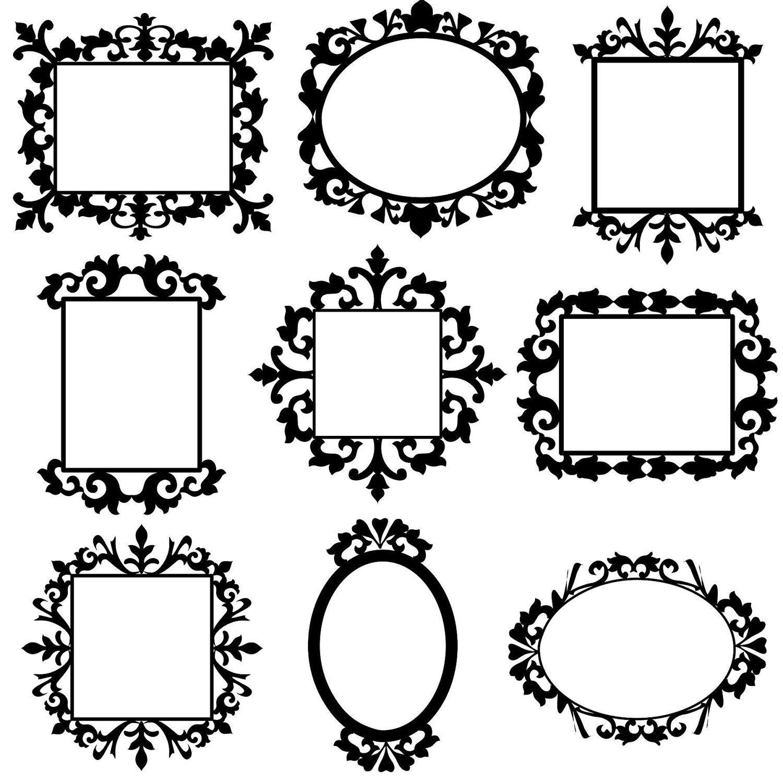 Clip art frame set. Frames clipart decorative