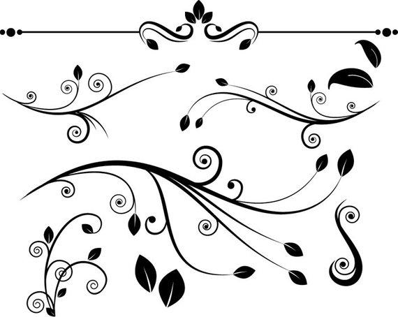 Decorative flourishes clip art. Flourish clipart florish