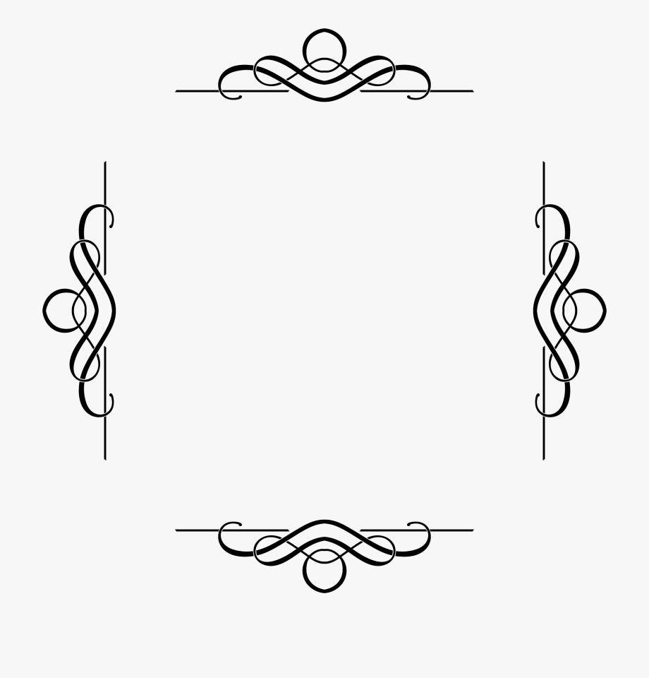 Fancy cliparts decorative square. Flourish clipart border
