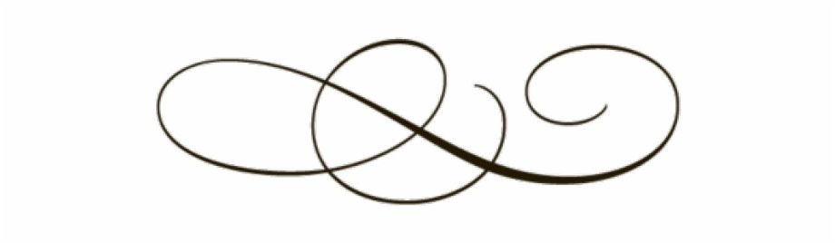 Decorative swirly fancy lines. Gold clipart line art