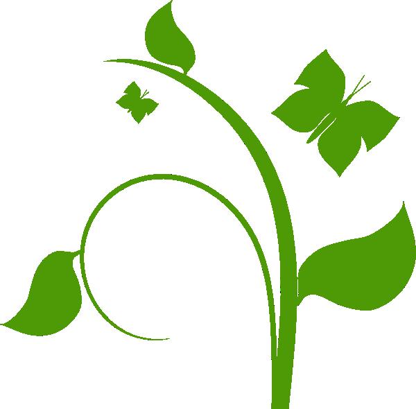 Green leafy clip art. Vines clipart garden