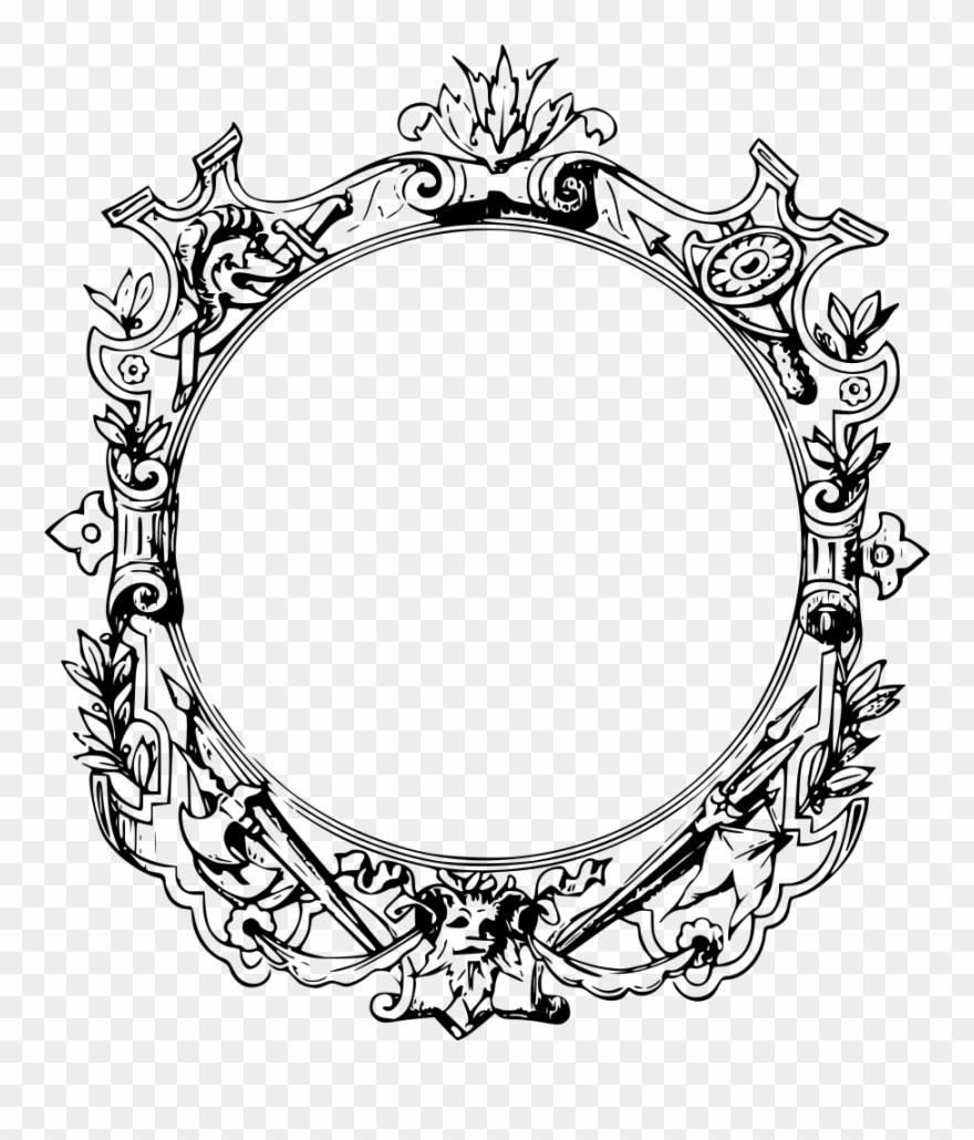 Decorative borders ornament picture. Filigree clipart filigree frame