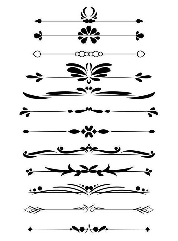 Divider clipart calligraphy.  decorative dividers flourish