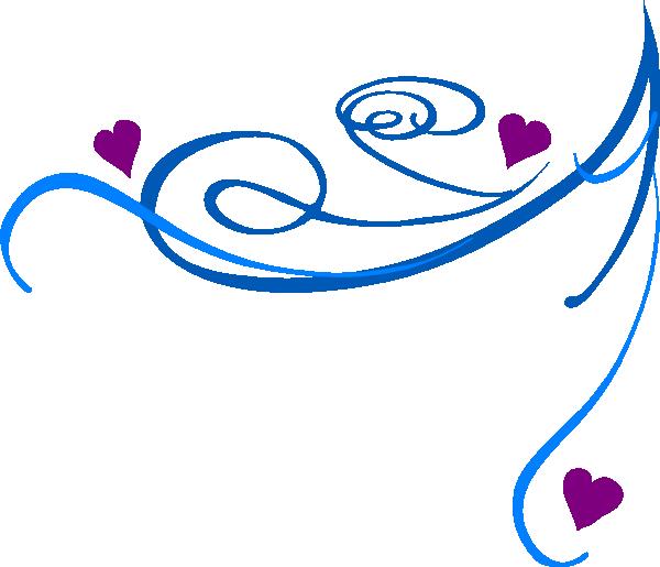 Decorative clipart purple. Swirl blue clip art