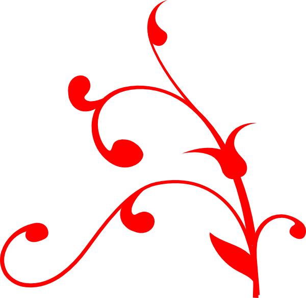 Flourishes clipart red swirl. Lines