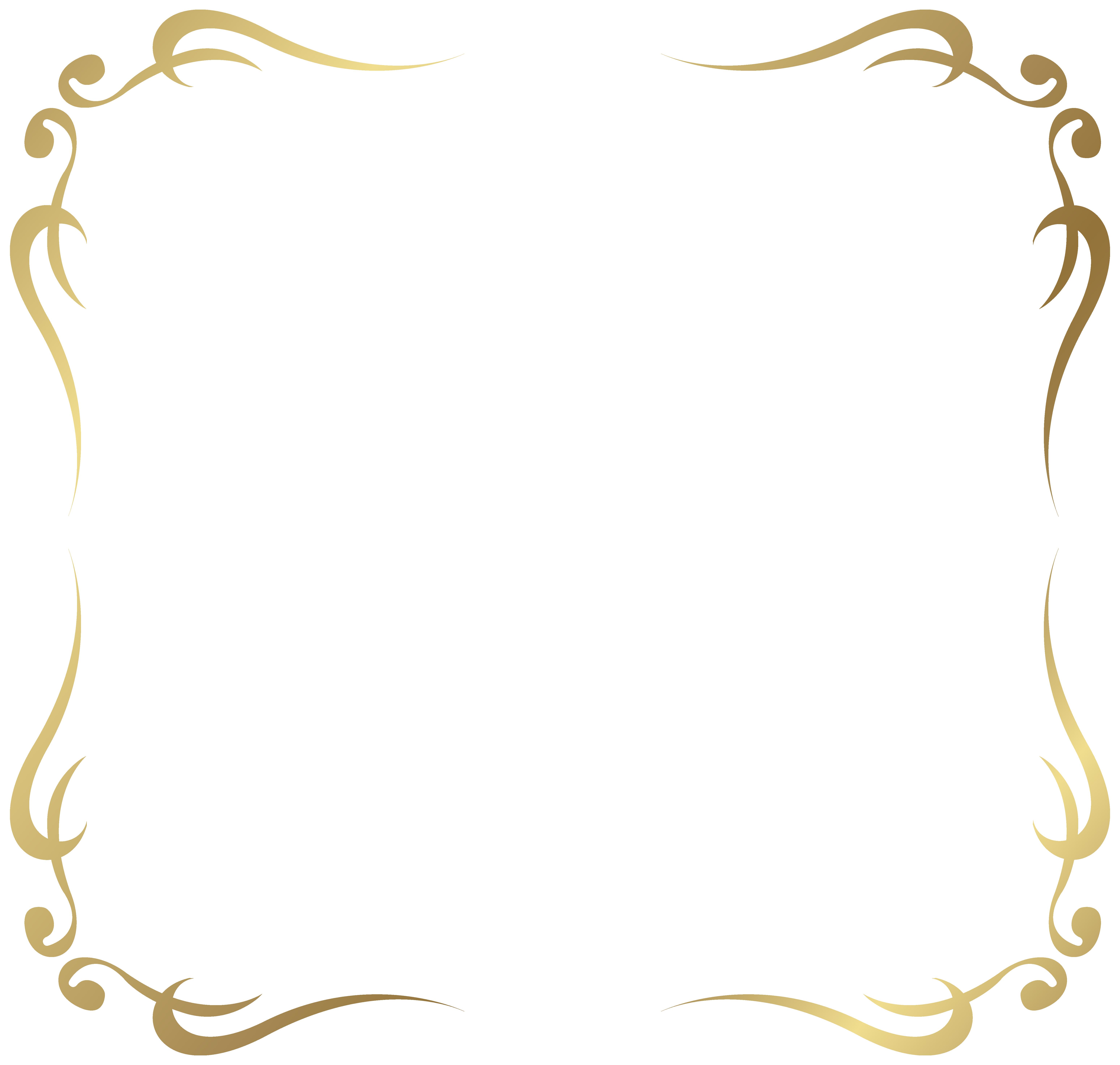 Magic clipart decorative swirl. Frame border png picture