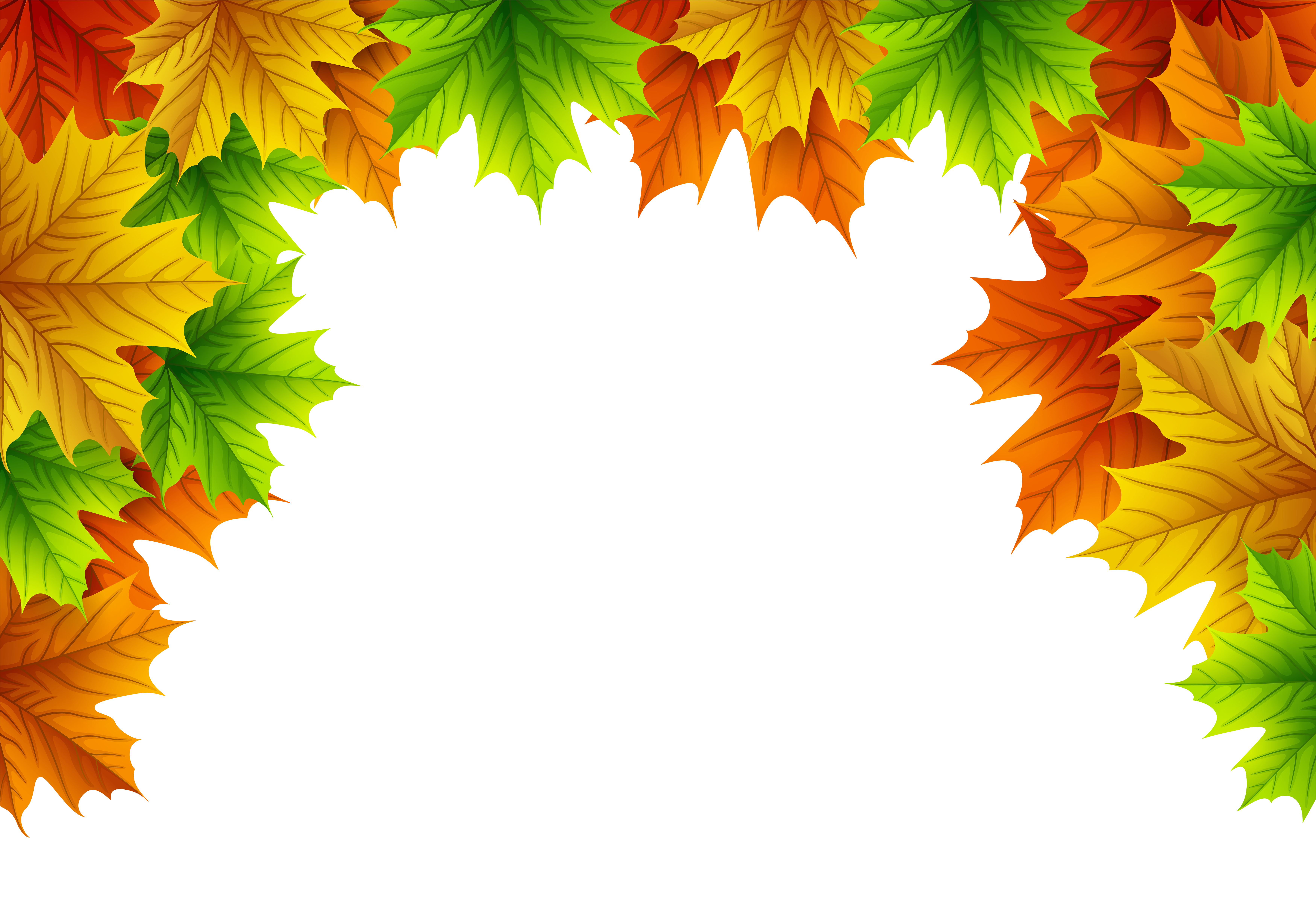 Autumn leaves border png. Decorative top image gallery