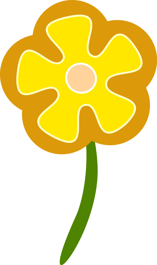 Retro clipart vector. Free flowers download clip