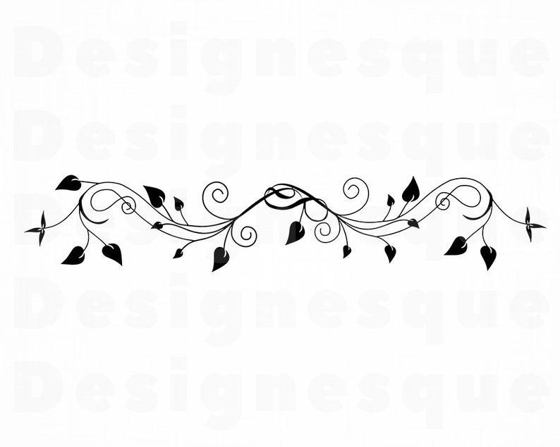 Decorative clipart vine. Svg ornamental files for