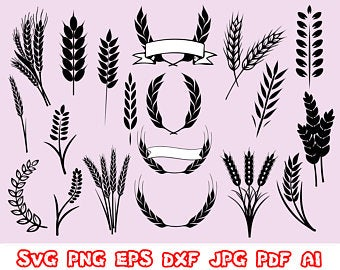 Etsy . Wheat clipart wheat wreath