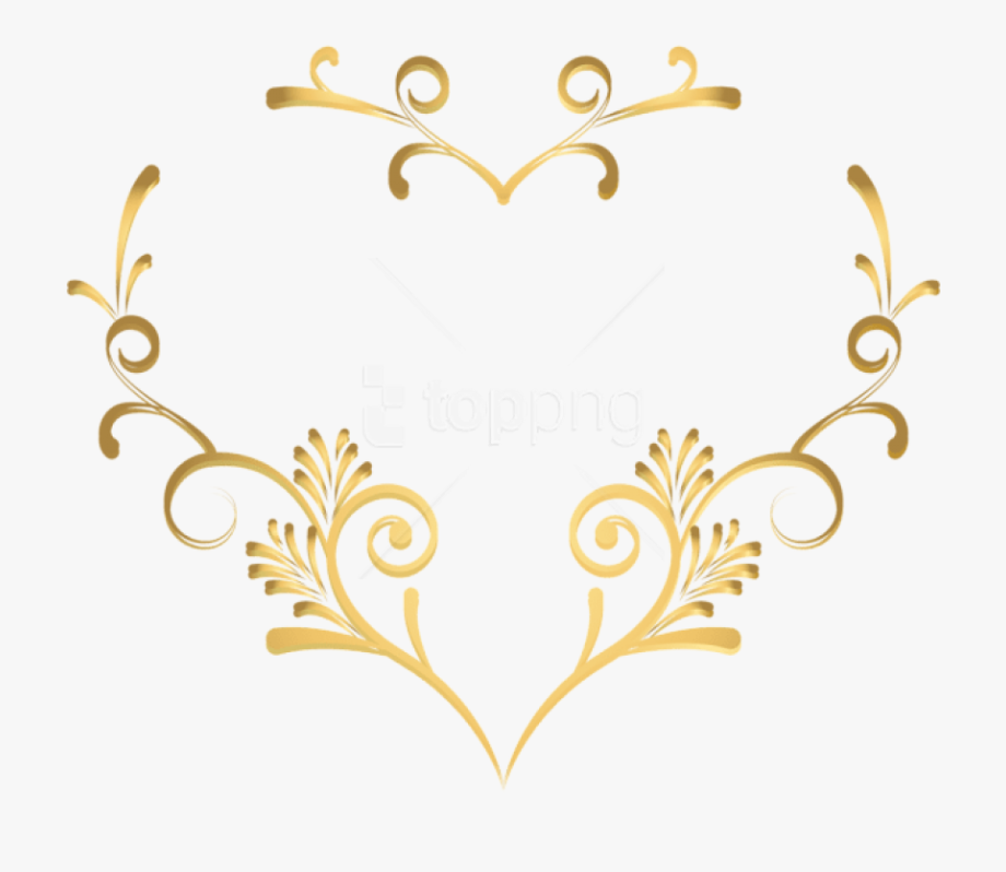 Wheat clipart decoration. Decorative heart png
