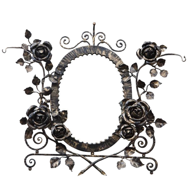 French clipart wall art. Sophisticated deco wrought iron