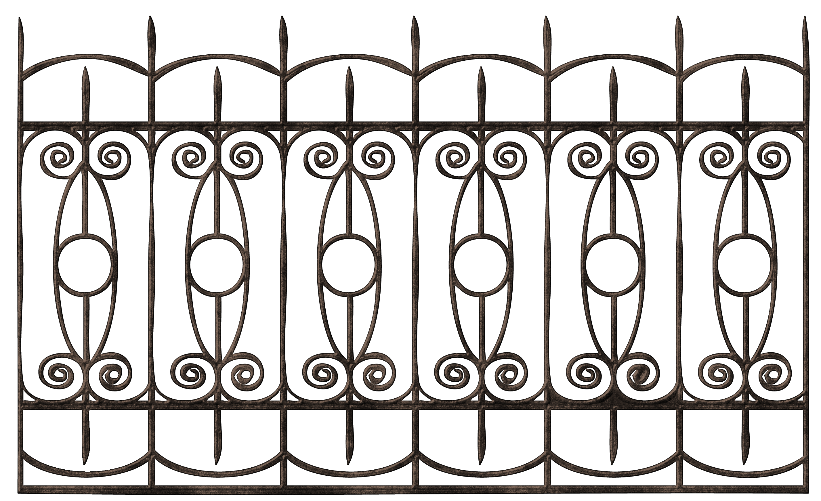 Gate clipart metal bar. Transparent ornamental iron fence
