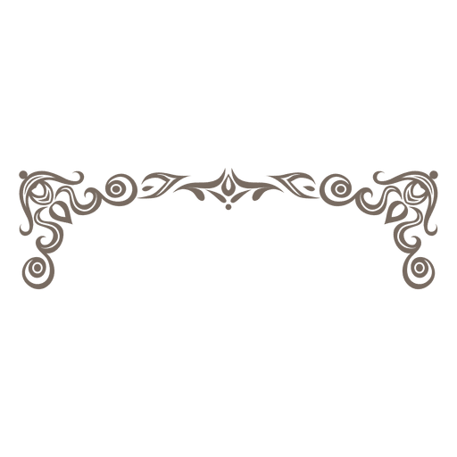 Ornate transparent svg vector. Decorative frame png