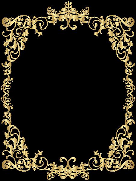 Decorative frame png. Border gold clip art