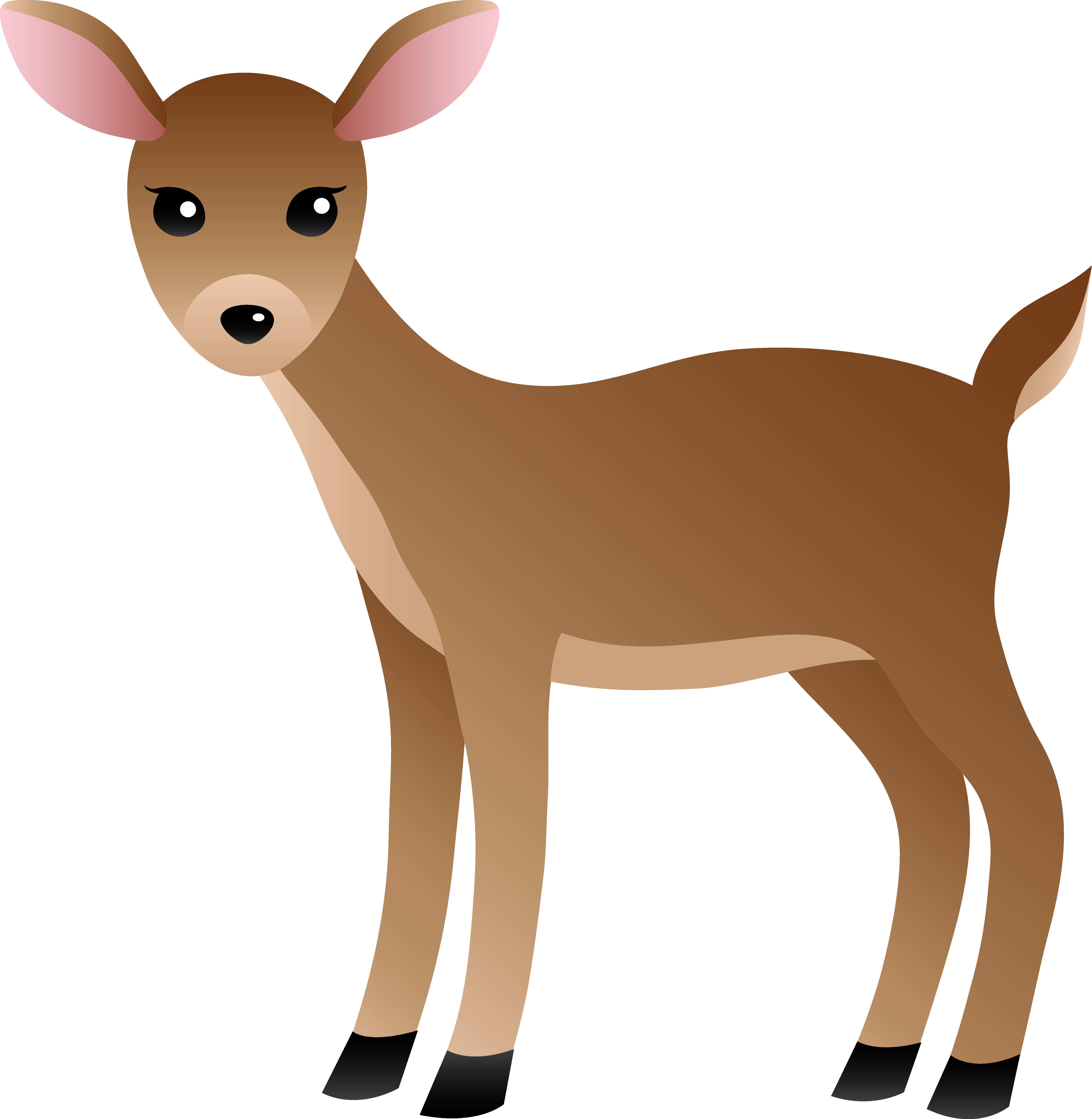 Cartoon . Woodland clipart deer