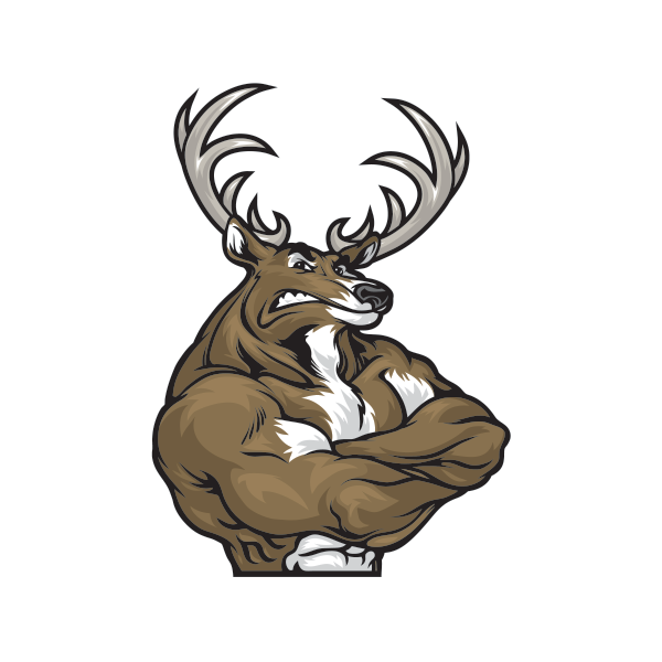 collection of deer. Elk clipart angry