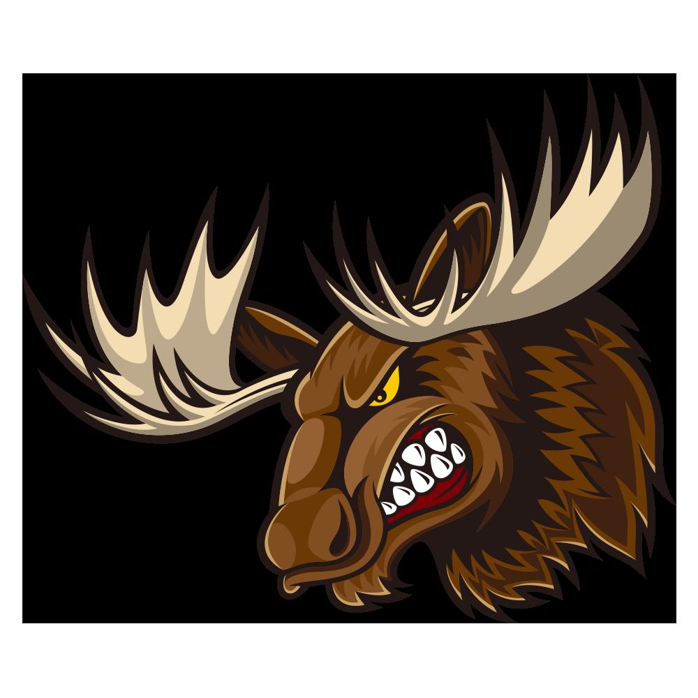 Elk clipart angry. Moose deer cartoon bull