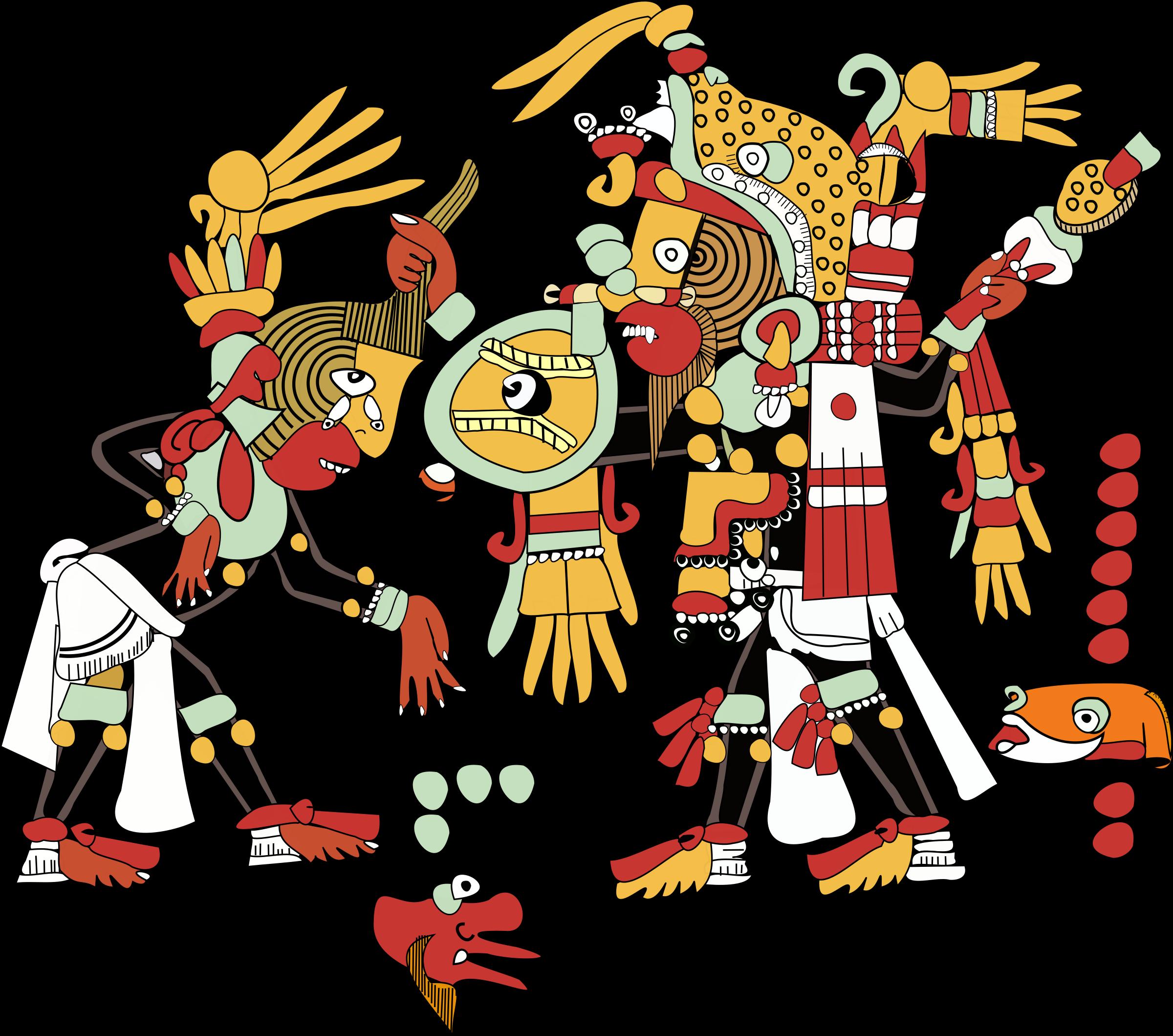 Ocho big image png. Deer clipart aztec