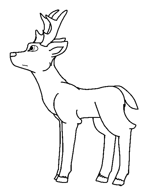 Line drawing at getdrawings. Deer clipart aztec