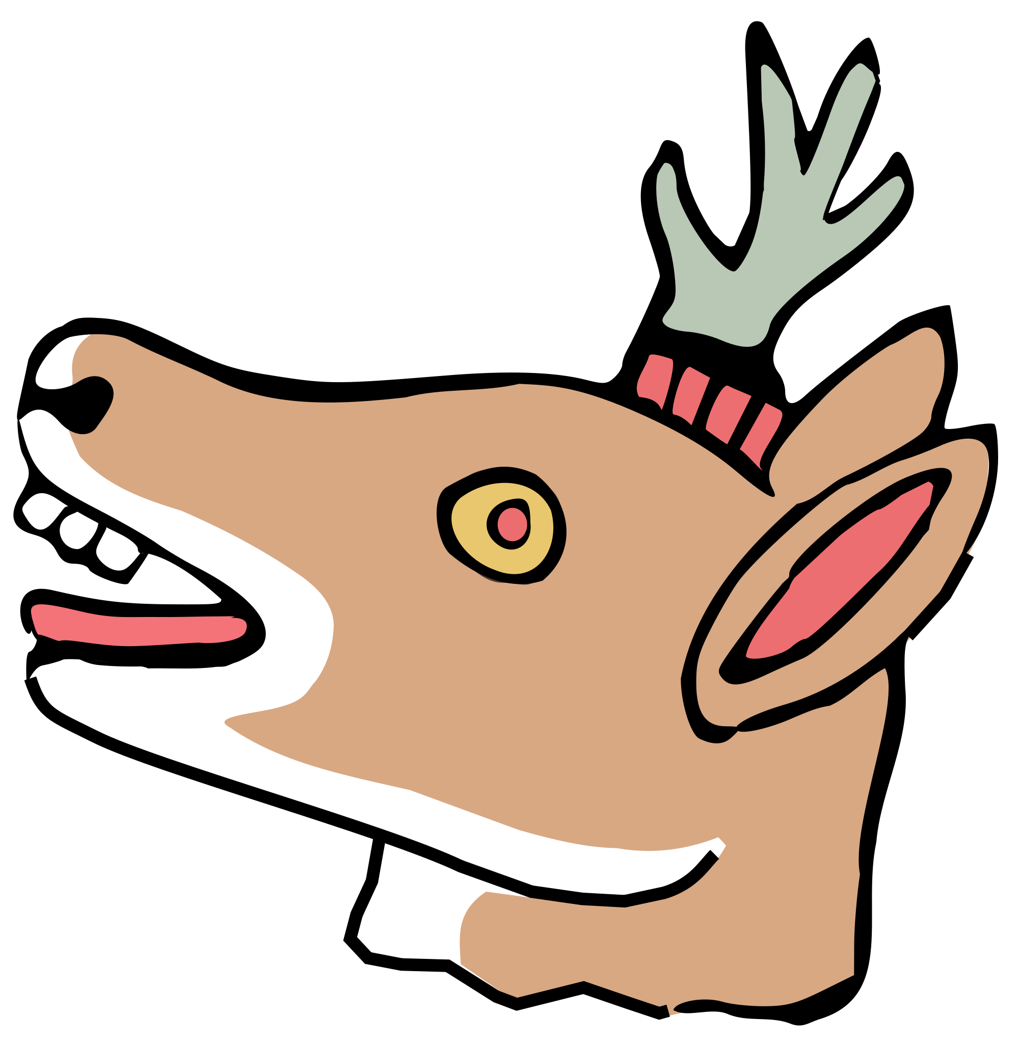 File mazatl svg wikimedia. Deer clipart aztec