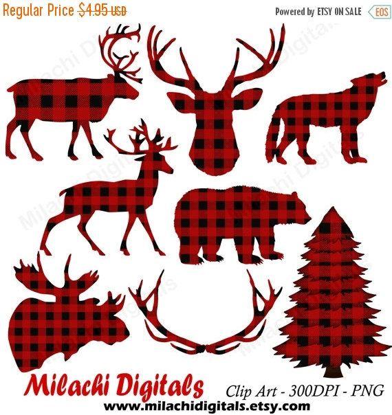 Moose clipart plaid. Buffalo lumberjack vector graphics