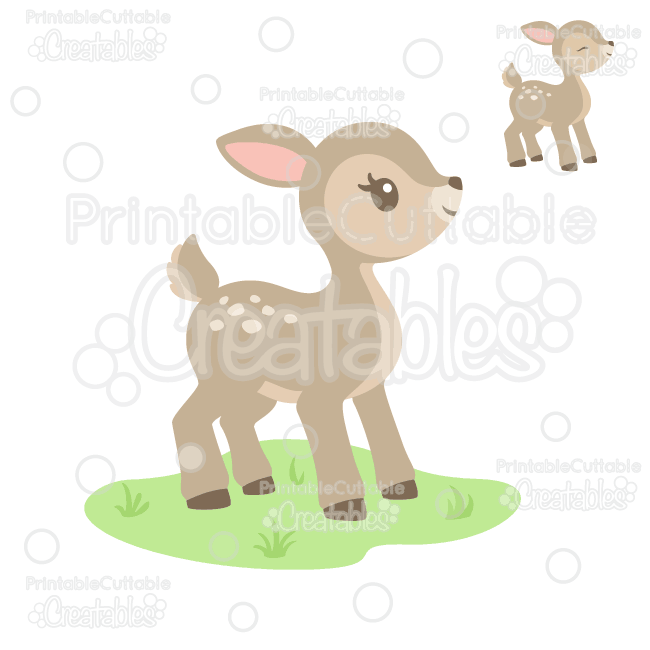 Deer clipart cute. Woodland svg cut file