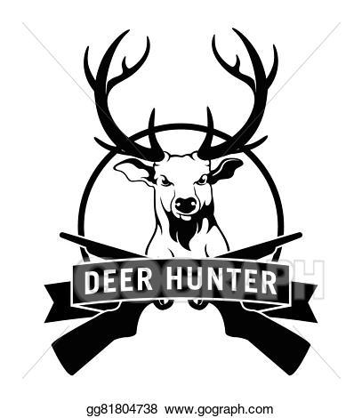 Eps illustration deer hunter. Hunting clipart artwork
