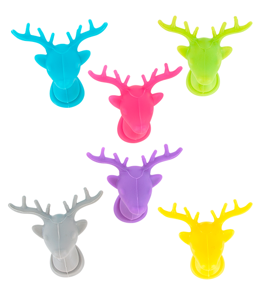 Deer clipart drinking. Glass marker set of
