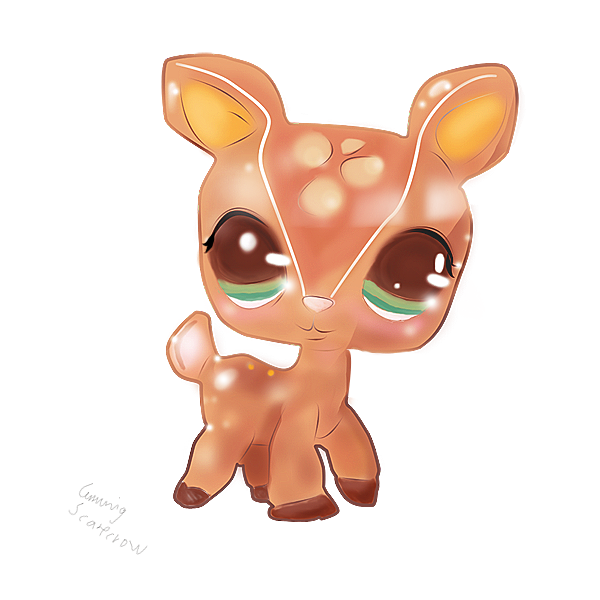 Lps by cunningscarecrow on. Deer clipart ear