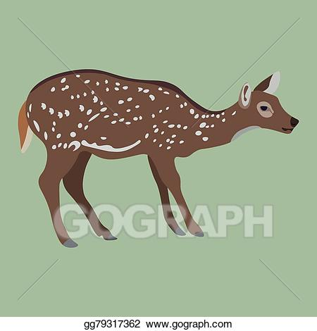 Deer clipart female deer. Vector art drawing gg