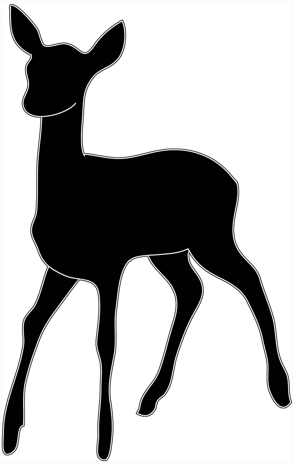 Baby svg cutting files. Deer clipart file