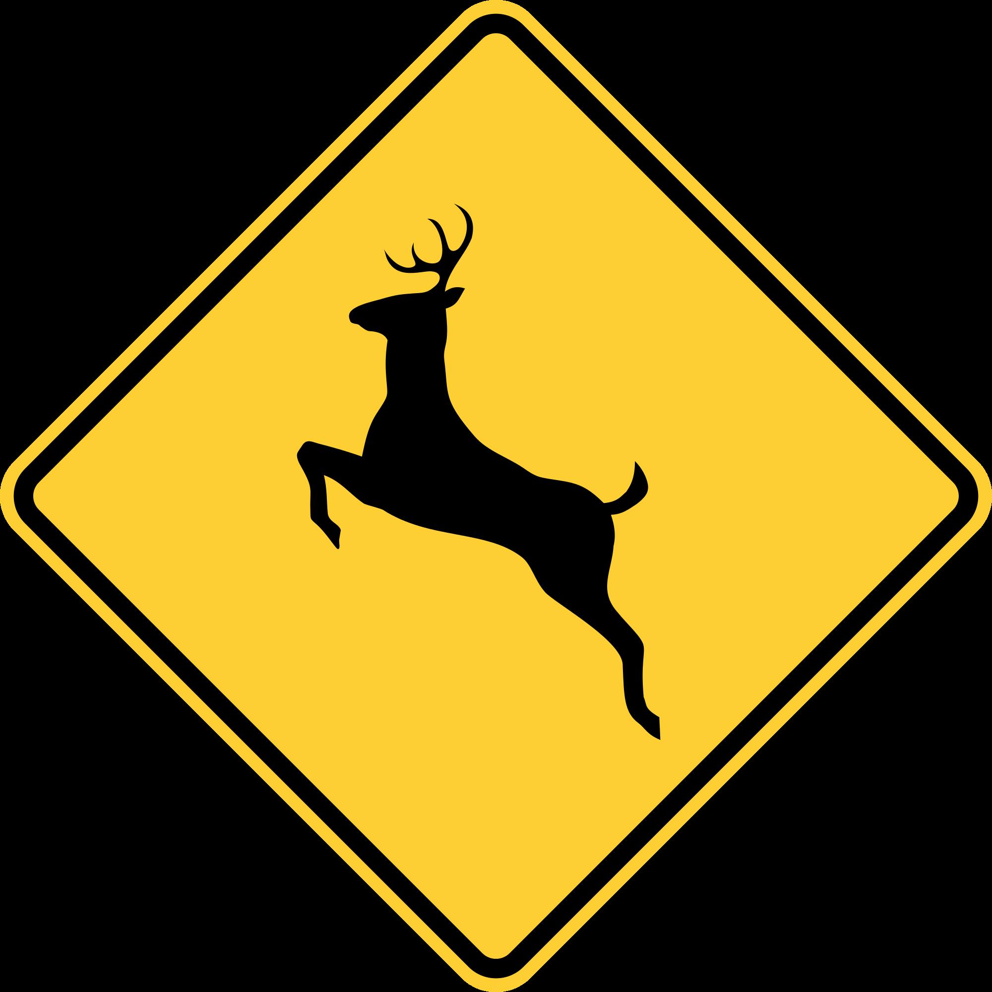 Deer clipart file. Mutcd w svg wikimedia