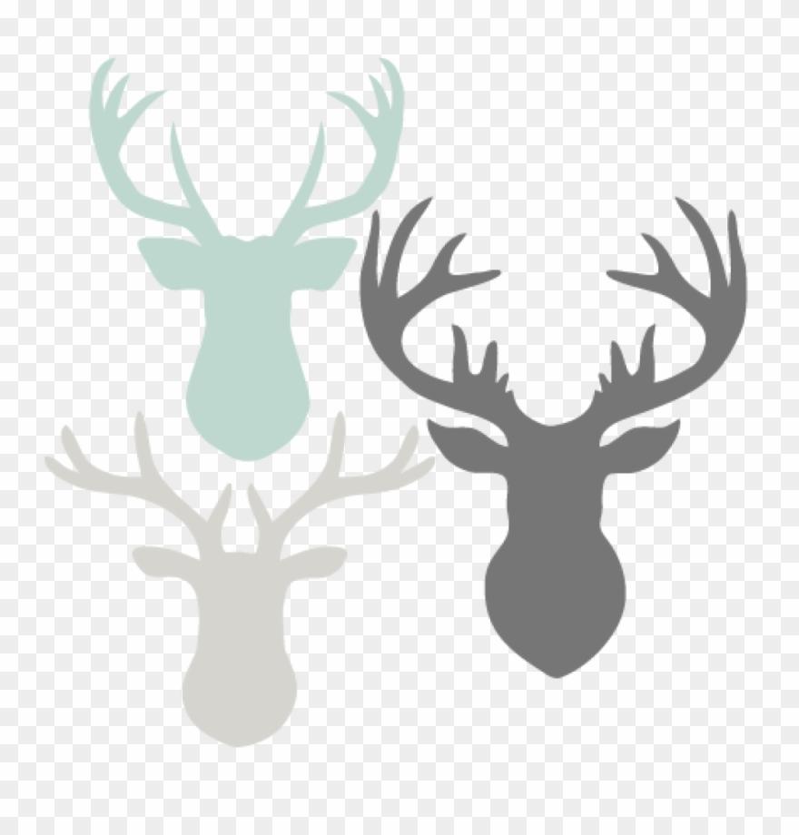 Deer clipart file. Head set svg scrapbook