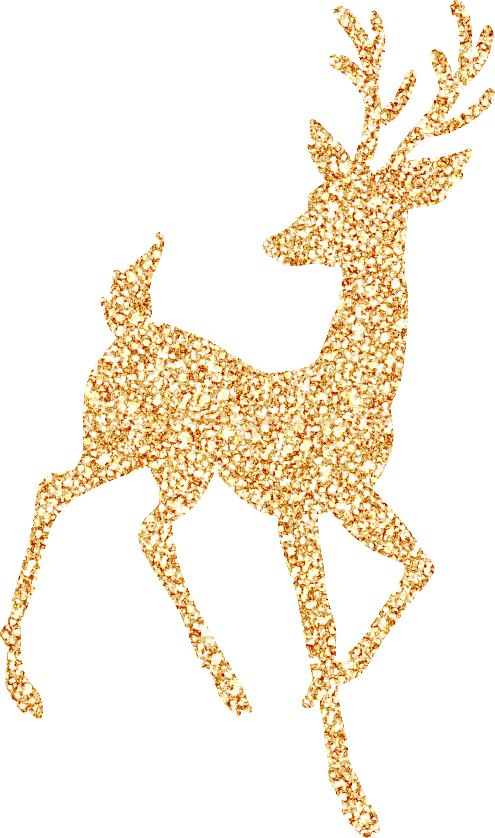 Deer clipart glitter. Gold free on dumielauxepices