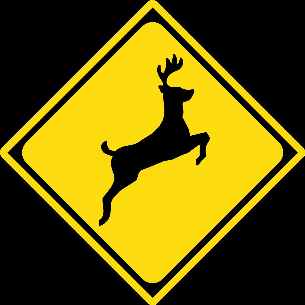 File japan road sign. Deer clipart golden deer