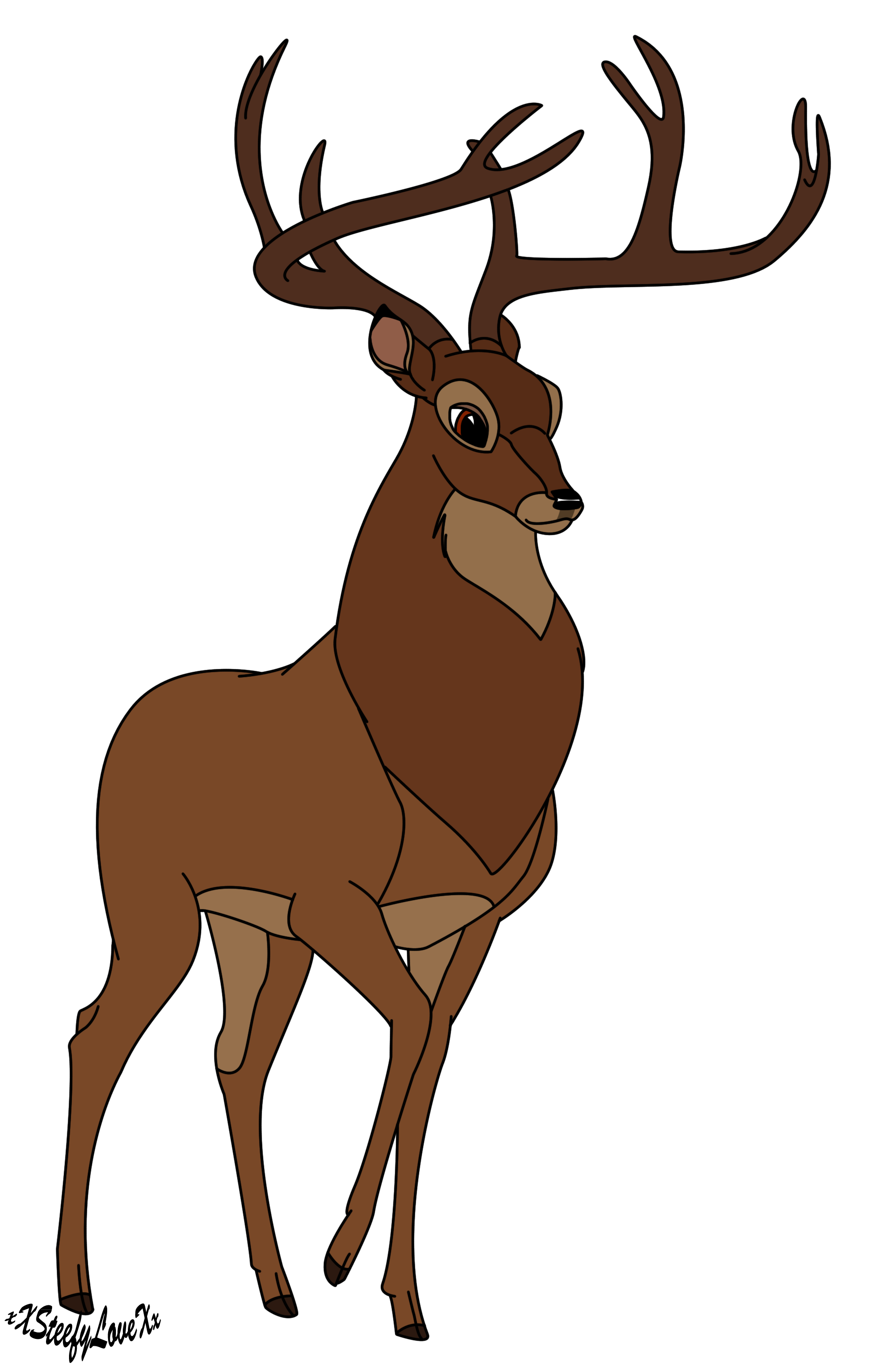 Deer clipart love. Free png transparent background