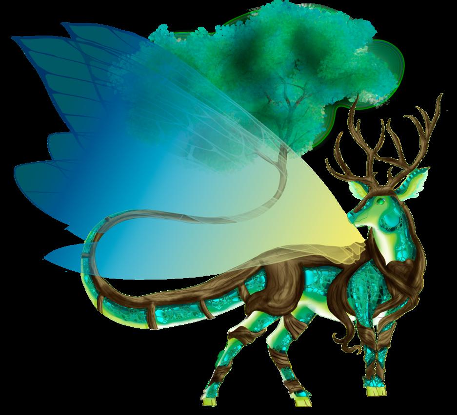 Dagon by connynee on. Elk clipart male deer