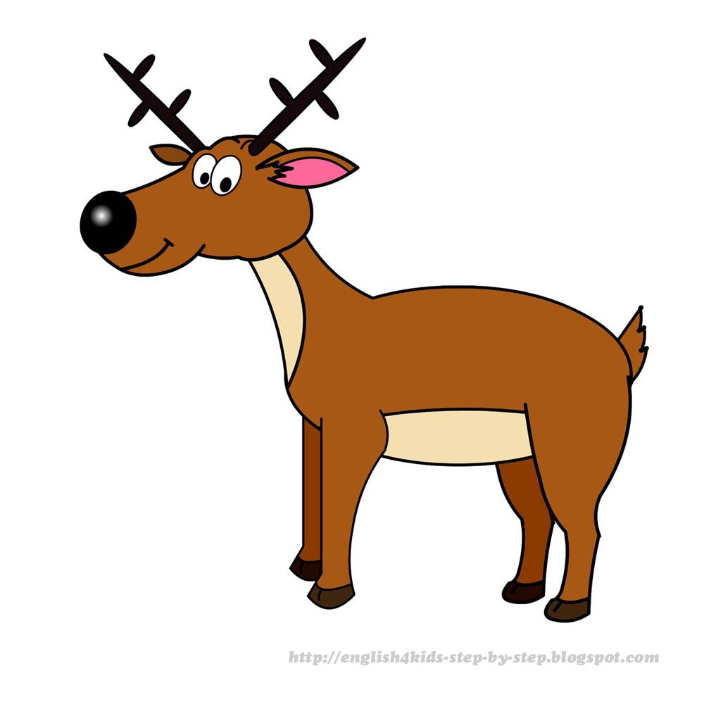 Cartoon deer clip art. Moose clipart kid