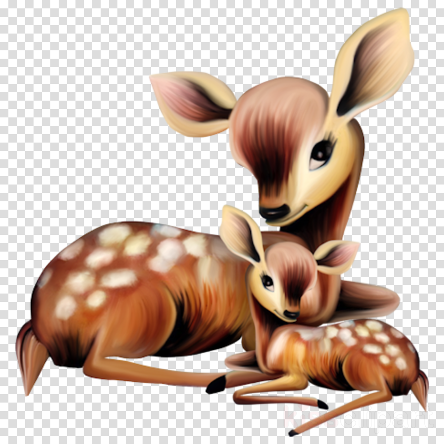 Cartoon mothers mother illustration. Deer clipart mother's day