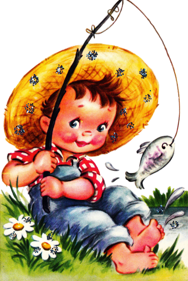 Deer clipart mother's day. Fishing boy png vintage