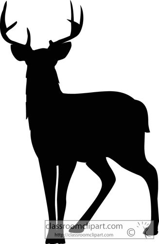 Silhouettes silhouette classroom . Deer clipart mule deer