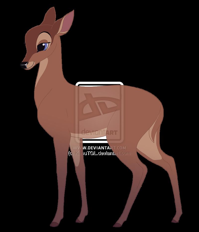 Bambi s mate faline. Deer clipart rain