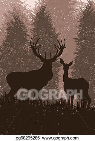 Eps vector animated in. Deer clipart rain