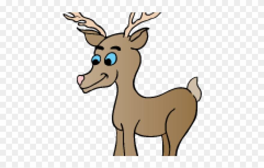 Cartoon png download . Deer clipart rain